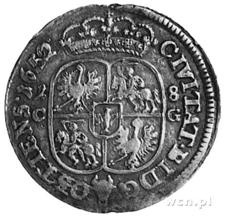 ort 1652, Bydgoszcz, Aw: Popiersie i napis, Rw: Tarcza ...