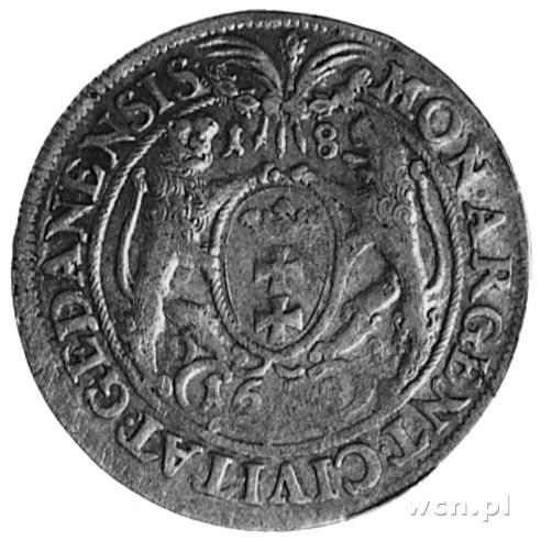 ort 1658, Gdańsk, Aw: j.w., Rw: Herb Gdańska i napis, G...