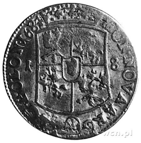ort 1684, Bydgoszcz, Aw: Popiersie i napis, Rw: Tarcza ...