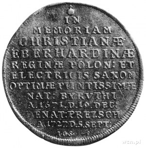 talar 1727, Drezno, Aw: Napis, Rw: Cyprys i napis, Dav....
