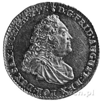 dukat 1750, Drezno, j.w., Fr.2845(2539), wyśmienity sta...