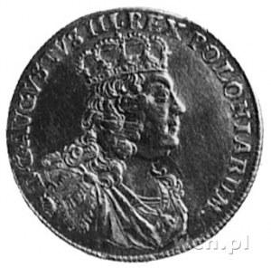 dukat 1752, Lipsk, Aw: Popiersie i napis, Rw: Tarcza he...