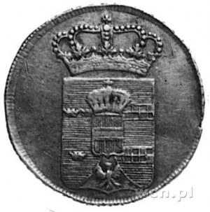 odbitka w srebrze dukata 1773, Aw: Ukoronowana tarcza h...