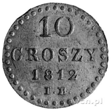 10 groszy 1812, Warszawa, Aw: Tarcza herbowa i napis, R...