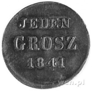 1 grosz 1841, Warszawa, Aw: Orzeł carski, Rw: Napis, Pl...