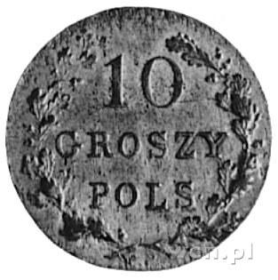 10 groszy 1831, Warszawa, Aw: Tarcza herbowa i napis, R...