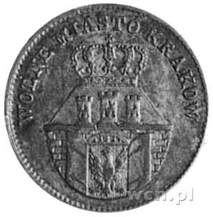 10 groszy 1835, Wiedeń, Aw: Herb Krakowa i napis, Rw: N...