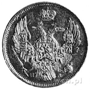 3 ruble=20 złotych 1838, Petersburg, j.w., Fr.lll(40), ...