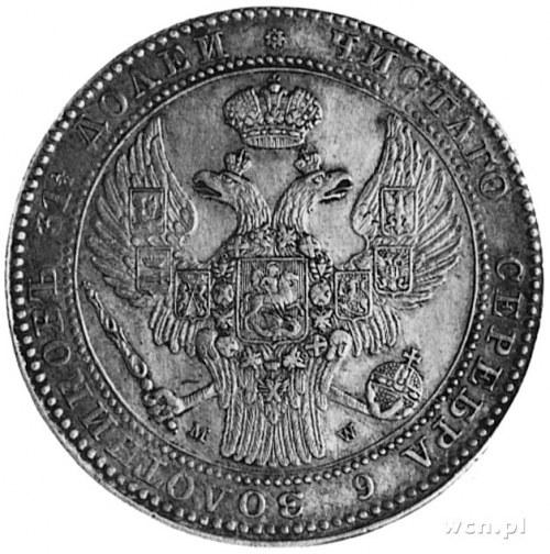 1 1/2 rubla=10 złotych 1836, Warszawa, Aw: Orzeł carski...