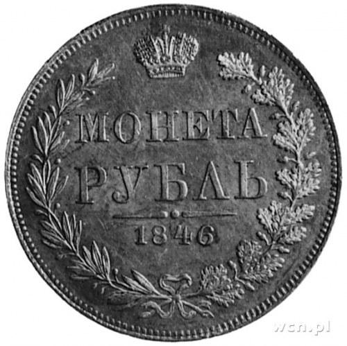 rubel 1846, Warszawa, j.w., Bitkin 425, Plage 437, wyśm...