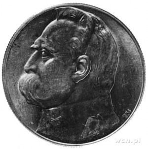 10 złotych 1934, Piłsudski, na rewersie Orzeł Strzeleck...