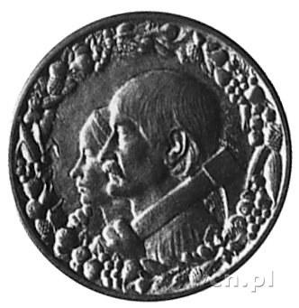 10 złotych 1925, Głowy Kobiety i Mężczyzny, brąz, wybit...