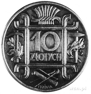 10 złotych 1934, połączone 4 Klamry, srebro, wybito 100...