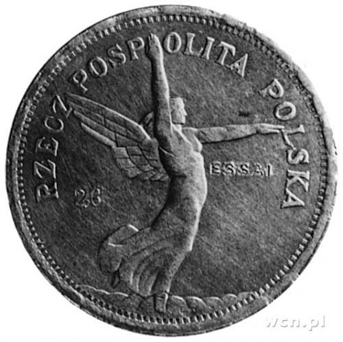 5 złotych 1928, Bruksela (bez znaku mennicy), na awersi...