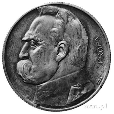 5 złotych 1934, Piłsudski i Orzeł Strzelecki, na awersi...