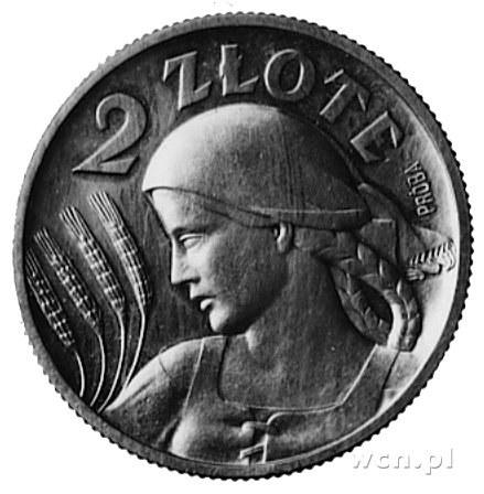 2 złote 1924, na awersie znak Mennicy Państwowej, na re...