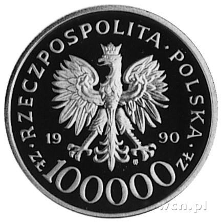 100.000 złotych 1990, Warszawa- 10-lecie Solidarności, ...