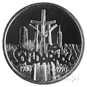 20.000 złotych 1990, Warszawa- 10-lecie Solidarności, w...