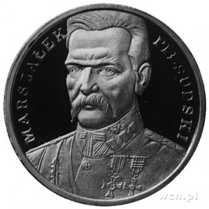 200.000 złotych 1990, Józef Piłsudski, złoto 31,1 g.
