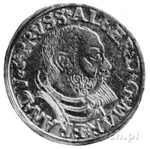 trojak 1540, Królewiec, Aw: Popiersie Albrechta i napis...