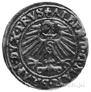 grosz 1548, Królewiec, j.w., Kop.II.5 -R-, rocznik rzad...