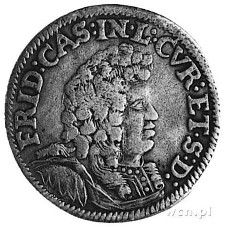 ort 1694, Aw: Popiersie Fryderyka Kazimierza Kettlera i...