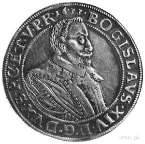 talar 1633, Koszalin, Aw: Popiersie Bogusława XIV i nap...