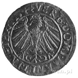 grosz 1544, Legnica, Aw: Popiersie Fryderyka II i napis...