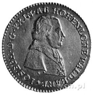 dukat 1796, Nysa, Aw: Popiersie księcia Józefa Hohenloh...
