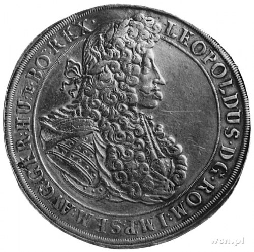 talar 1702, Opole, Aw: Popiersie cesarza Leopolda I i n...