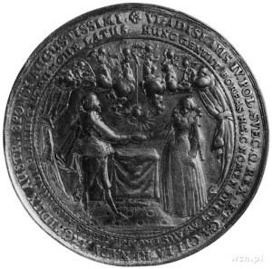 medal zaślubinowy autorstwa Sebastiana Dadlera wybity z...