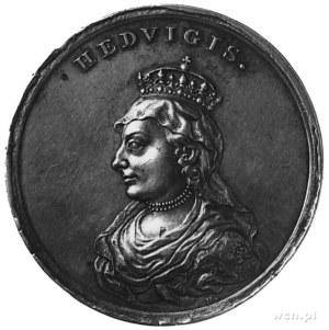 medal Holzhaeussera ze świty królewskiej- Jadwiga, Aw: ...