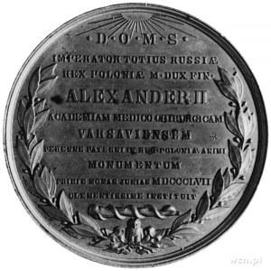 medal sygnowany J. MINHEIMER wybity w 1857 roku z okazj...