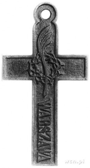 pamiątkowy krzyż z uszkiem do zawieszania, tzw. biżuter...