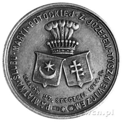 medal sygnowany HJ (Jan Hopliński) wybity w 1914 roku z...