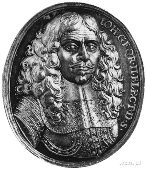 owalny medal b.d. (1666), sygnowany I.B. (J. Buchheim),...