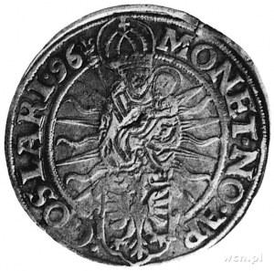 talar 1596, Aw: Madonna, poniżej tarcza herbowa, wokół ...