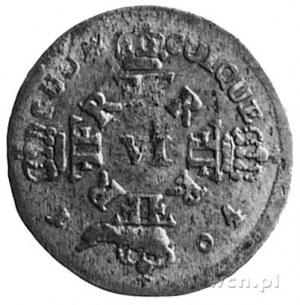 Fryderyk I 1701-1713, 6 groszy 1704, Królewiec, Aw: Pop...