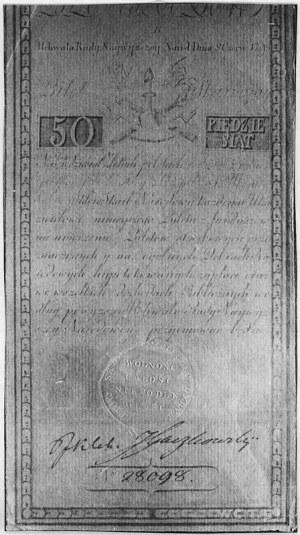 50 złotych 8.06.1794, Ser.B, Pick A4, nadzwyczaj rzadki...