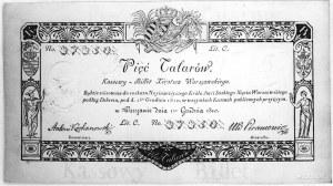 5 talarów 1.12.1810, podpis: Kochanowski, Pick A14
