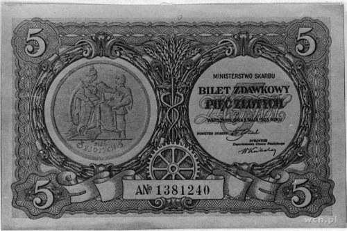 5 złotych 1.05.1925, Pick 48, Parchimowicz 47.II