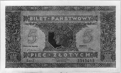 5 złotych 25.10.1926, Pick 49, Parchimowicz 48.II