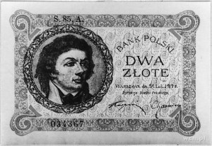 2 złote 28.02.1919, S.85.A 034367, Pick 52, Parchimowic...