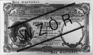 5.000 złotych 28.02.1919, Pick 60, Parchimowicz 5.IV