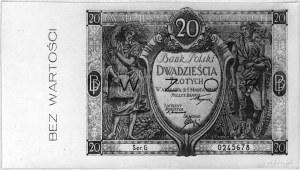 20 złotych 1.03.1926, Pick 65, Parchimowicz 32a.H, WZÓR