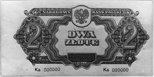 2 złote 1944 \obowiązkowym\ seria Ka 000000