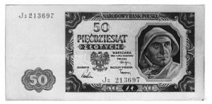50 złotych 1.07.1948, Ser.J3 213697, Pick 138, Parchimo...