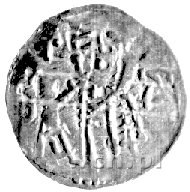 denar ok. 1190- 1201, mennica Racibórz, Aw: Krzyż dwuni...