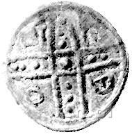 denar jednostronny 1177-1201, mennica Racibórz: Krzyż d...