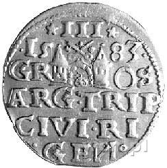 trojak 1583, Ryga, Kurp. 443 R1, Gum. 813, interpunkcja...
